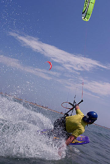 Picture: Kiteboarding in Prasonisi, Greece. Photo by Tarmo Laine